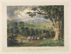 'Hill Fort of Veshallgheen'. Plate 1 from Eight Most Splendid Views of India, sketched by an officer in the Indian Army, drawn and printed by Baron A. Friedel, London, 1833